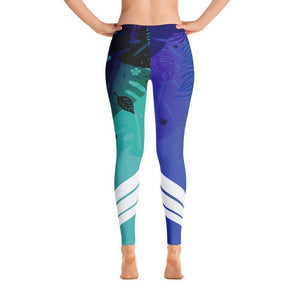 All Day Comfort Blue Venture Pro Wild Life Leggings, from Find Your Coast Apparel at Moosestrum.com