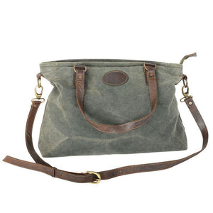 Green Canvas Bag with Strap