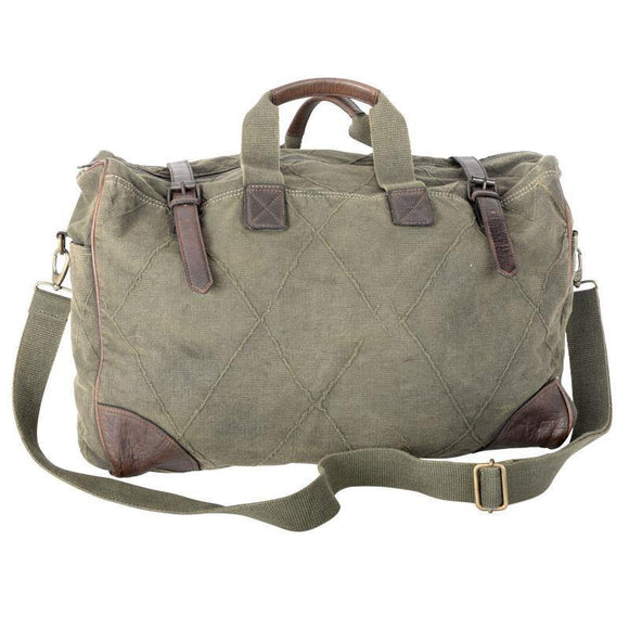 GREEN CANVAS WEEKENDER BAG from The Brooklyn Bag Company at Moosestrum.com