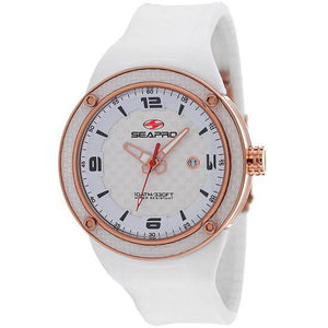 Men's Driver Watch in White and Rose Gold
