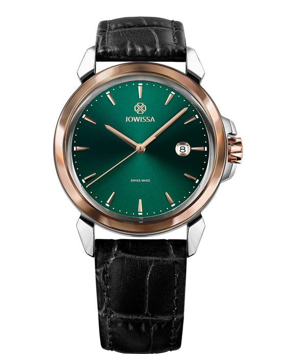 LeWy 3 Swiss Men's Green Watch with Rose Gold J4.241.L from Jowissa Watches at Moosestrum.com