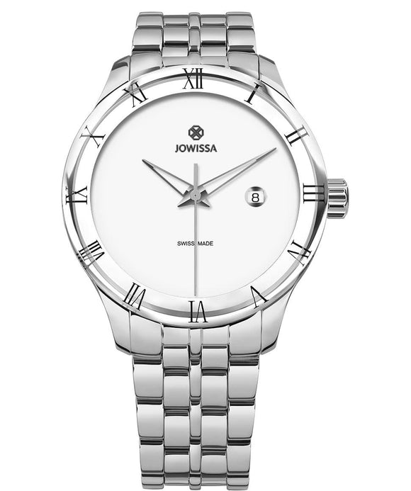 Romo Swiss Men's White Watch with Silver J2.167.L from Jowissa Watches at Moosestrum.com