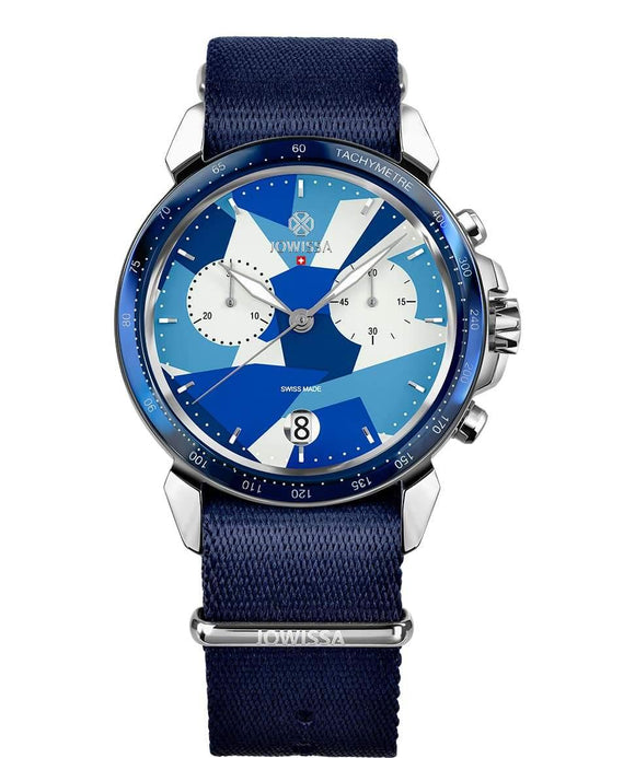LeWy 15 Swiss Men's Blue Watch with Silver J7.129.L from Jowissa Watches at Moosestrum.com