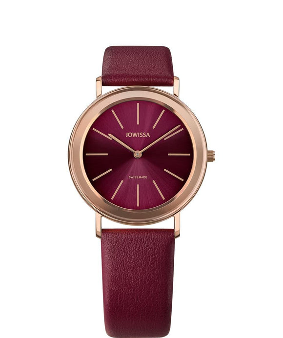 Alto Swiss Ladies Bordeaux Watch with Rose Gold J4.392.L from Jowissa Watches at Moosestrum.com