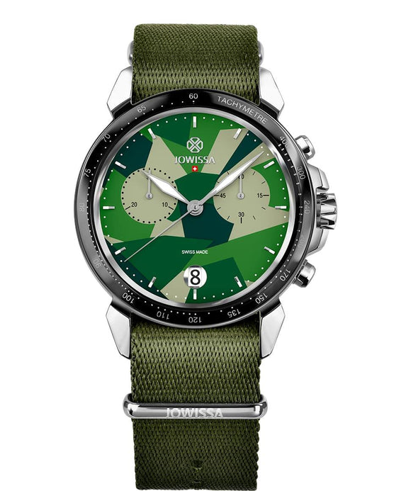 LeWy 15 Swiss Men's Green Watch with Silver J7.130.L from Jowissa Watches at Moosestrum.com