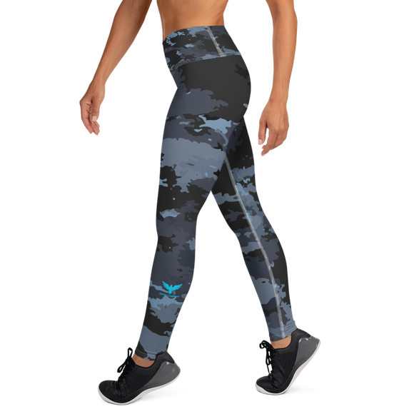 Active Comfort Crossover Coast Camo Full Length Sport Leggings, from Find Your Coast Apparel at Moosestrum.com