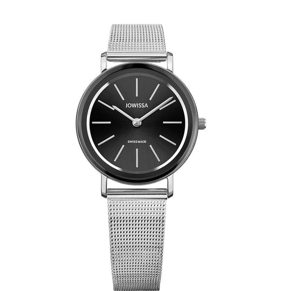 Alto Swiss Ladies Black Watch with Silver J4.394.M from Jowissa Watches at Moosestrum.com
