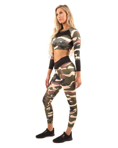 Virginia Camouflage Leggings & Sports Bra Set, from Savoy Active at Moosestrum.com