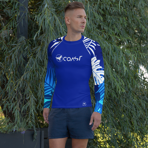 Find Your Coast Jungle Sleeve Blue Rash Guard UPF 40, from Find Your Coast Apparel at Moosestrum.com