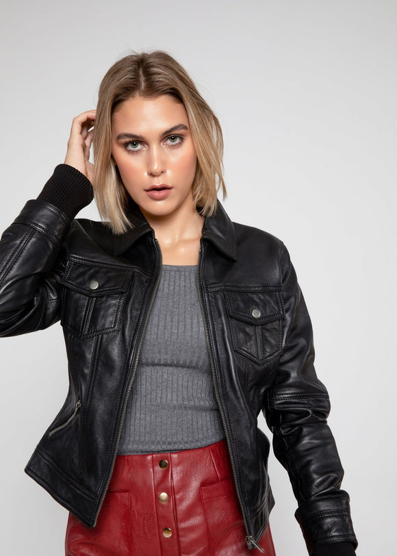 Annalise Leather Jacket, from Fadcloset at Moosestrum.com