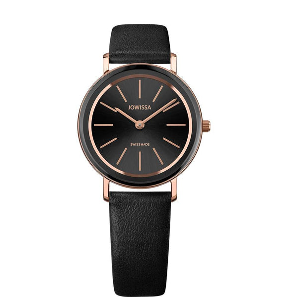 Alto Swiss Ladies Black Watch with Rose Gold J4.387.M from Jowissa Watches at Moosestrum.com
