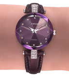 Facet Strass Swiss Ladies Purple Watch with Silver J5.621.M from Jowissa Watches at Moosestrum.com