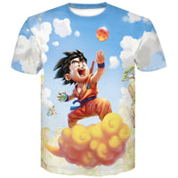 T Shirt Manches Courtes Dragon Ball Z Son Goku Saiyan - Mangashop.fr