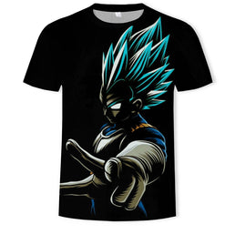 T Shirt Manches Courtes Dragon Ball Series 3D Digital - Mangashop.fr