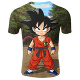 T Shirt Manches Courtes Super Saiyan Goku - Mangashop.fr