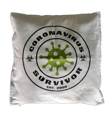 Ink Trendz® Coronavirus Survivor Est. 2020 Covid-19 Home Decor 20x20 Throw Pillow Cushion Cover