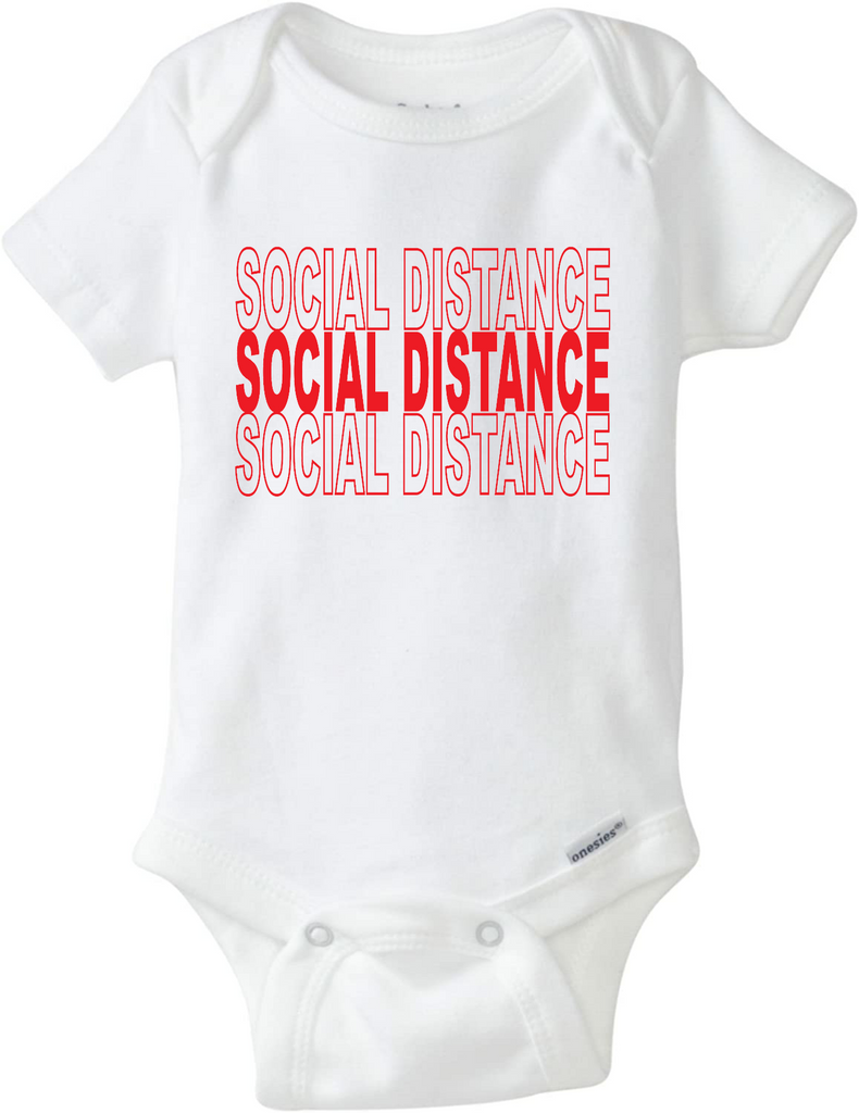 Ink Trendz® Social Distance Pandemic Baby-Toddler One-piece Onesie®
