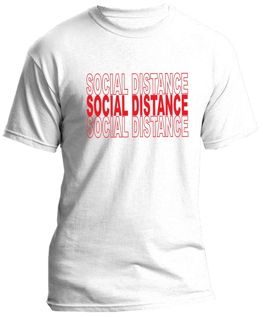 Ink Trendz® SOCIAL DISTANCE Shopping Themed est. 2020 Funny Covid-19 T-Shirt