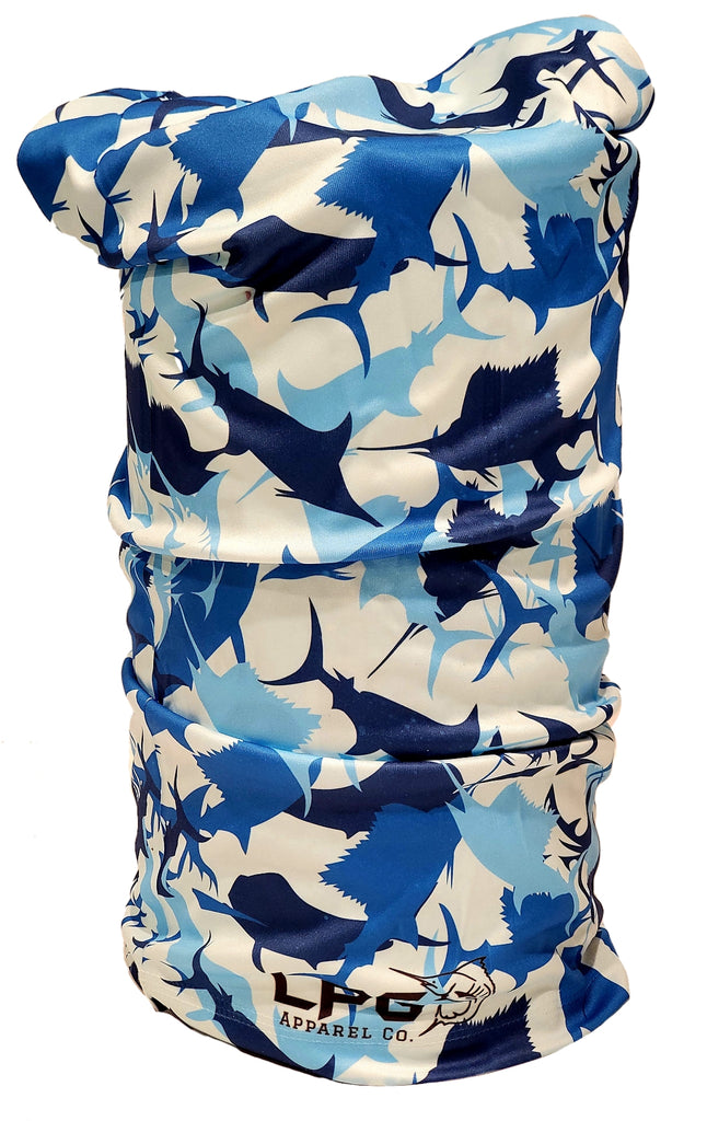 LPG Apparel Co. Billfish Camouflage UPF 30 Neck Gaiter Face Mask Baclava