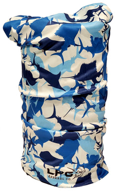 LPG Apparel Co. Billfish Camouflage Neck Gaiter Face Mask