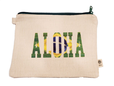 Ink Trendz® Aloha Brazil Themed Novelty Zipper Hemp Pouch Bag