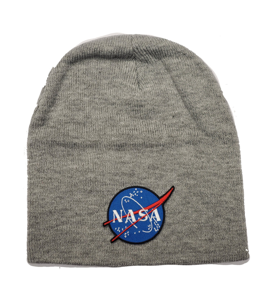 "Ink Trendz Nasa 8"" Beanie Skull Cap, Nasa Headwear, Nasa Winter Hat, Nasa Gear, Nasa Accessories, Nasa Skull Cap, NASA HAT"