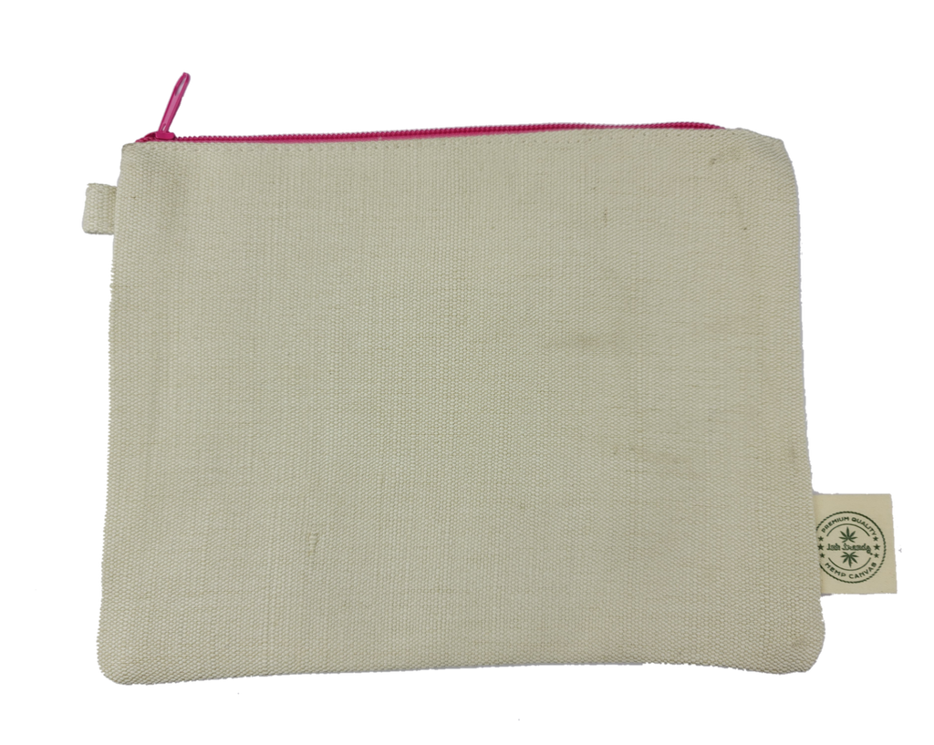 "Ink Trendz® Hemp Canvas 9"" x 7"" Zipper Pouch 