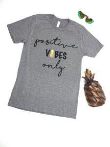 Positive Vibes Only Infertility IUI IVF Mommy TriBlend T-Shirt