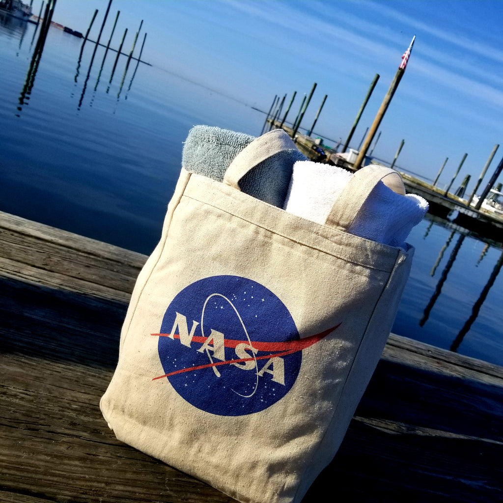 NASA Signature Meatball 10oz. Natural Canvas Cotton Tote