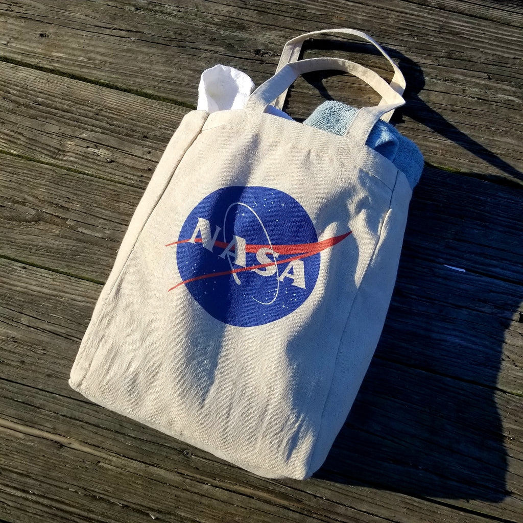Ink Trendz® NASA Signature Meatball 10oz. Natural Canvas Cotton Tote