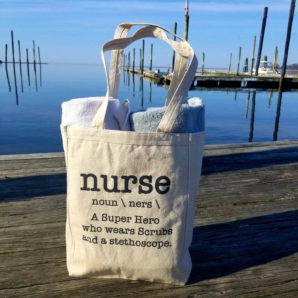 Nurse Parody Superhero RN Bag 10oz. Natural Canvas Cotton Tote