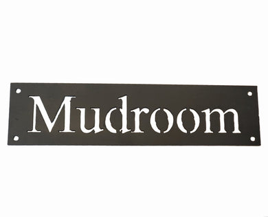 Ink Trendz® Mudroom Handmade Metal Sign 12