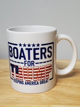 Load image into Gallery viewer, Ink Trendz® Boaters For Trump Keep America Great Sport fishing Parade Ceramic Coffee Mug