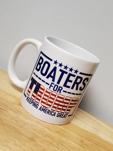 Ink Trendz® Boaters For Trump Keep America Great Sport fishing Parade Ceramic Coffee Mug