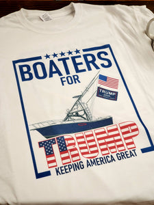 Ink Trendz® Boaters For Trump Keep America Great Sport fishing Parade T-Shirt