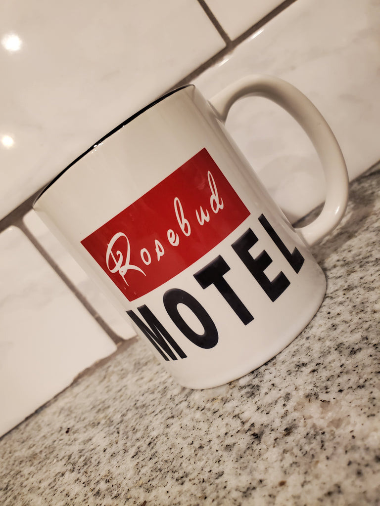 Ink Trendz® Rosebud Motel Novelty Rose Apothecary  11 oz. 2 Tone Ceramic Coffee Mug