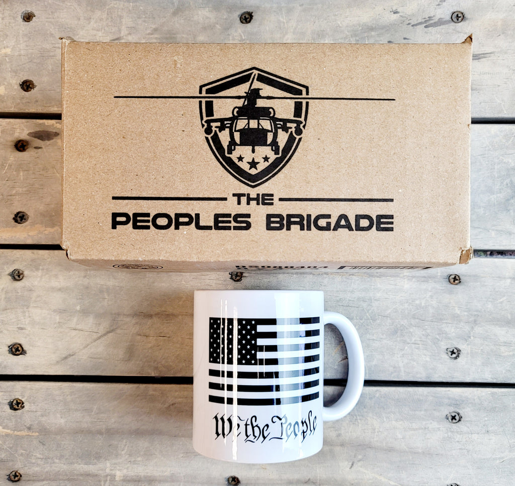 The Peoples Brigade Blackhawk Circle Logo 11 Oz. Coffee Mug Cup