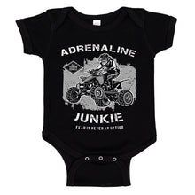 Load image into Gallery viewer, Ink Trendz® Adrenaline Junkie Fear Is Never An Option ATV  Baby Bodysuit