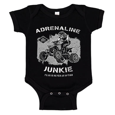 Ink Trendz® Adrenaline Junkie Fear Is Never An Option ATV  Baby Bodysuit