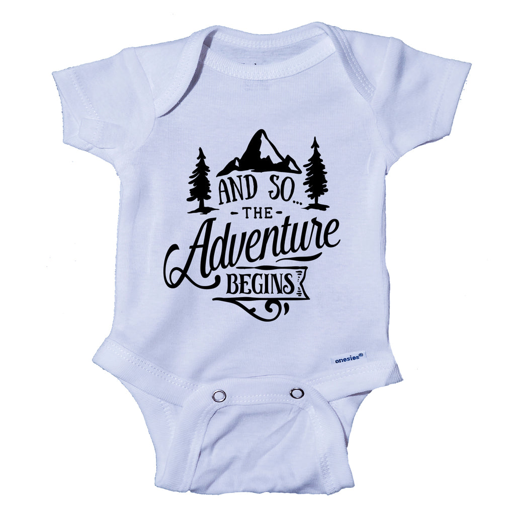 Ink Trendz® And So The Adventure Begins Baby Pregnancy Announcement Baby Bodysuit Onesie®