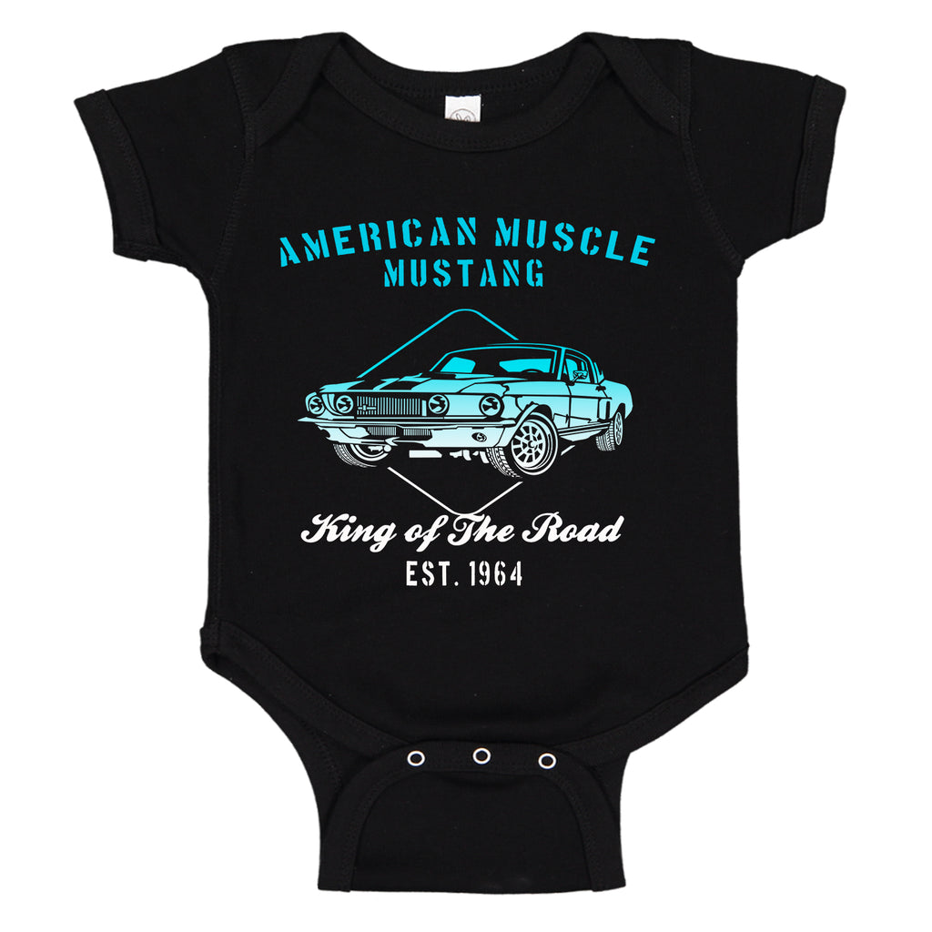 American Muscle FORD Mustang Speed Shop 1964 Baby Bodysuit