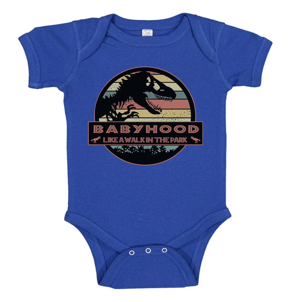 Ink Trendz® BabyHood Like A Walk In The Park Baby One-piece Bodysuit Jurassic Park Movie Themed Onesies, Jurassic Park Onesie, Jurassic Park Baby Bodysuit, Jurassic Park Onesies, Toddler Onesie, Toddler Onesies, Jurassic Park Toddler