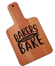 Load image into Gallery viewer, Ink Trendz Bakers Gonna Bake Rolling Pin Decorative Charcuterie Cheese Cutting Board