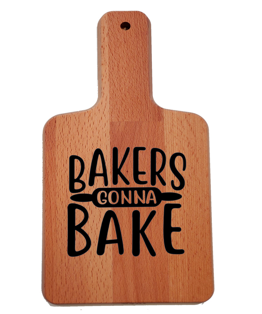 Ink Trendz Bakers Gonna Bake Rolling Pin Decorative Charcuterie Cheese Cutting Board