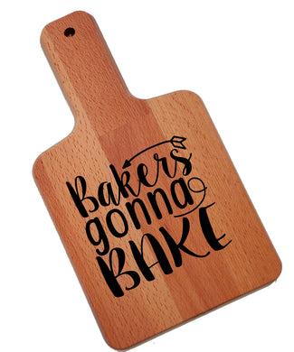 Ink Trendz Bakers Gonna Bake Standard Decorative Charcuterie Cheese Cutting Board