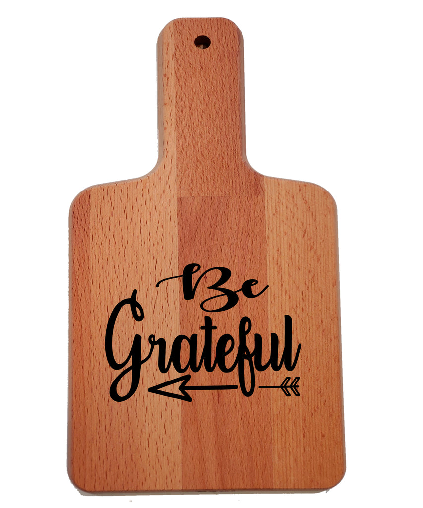 Ink Trendz Be Grateful Faith Decorative Charcuterie Cheese Cutting Board
