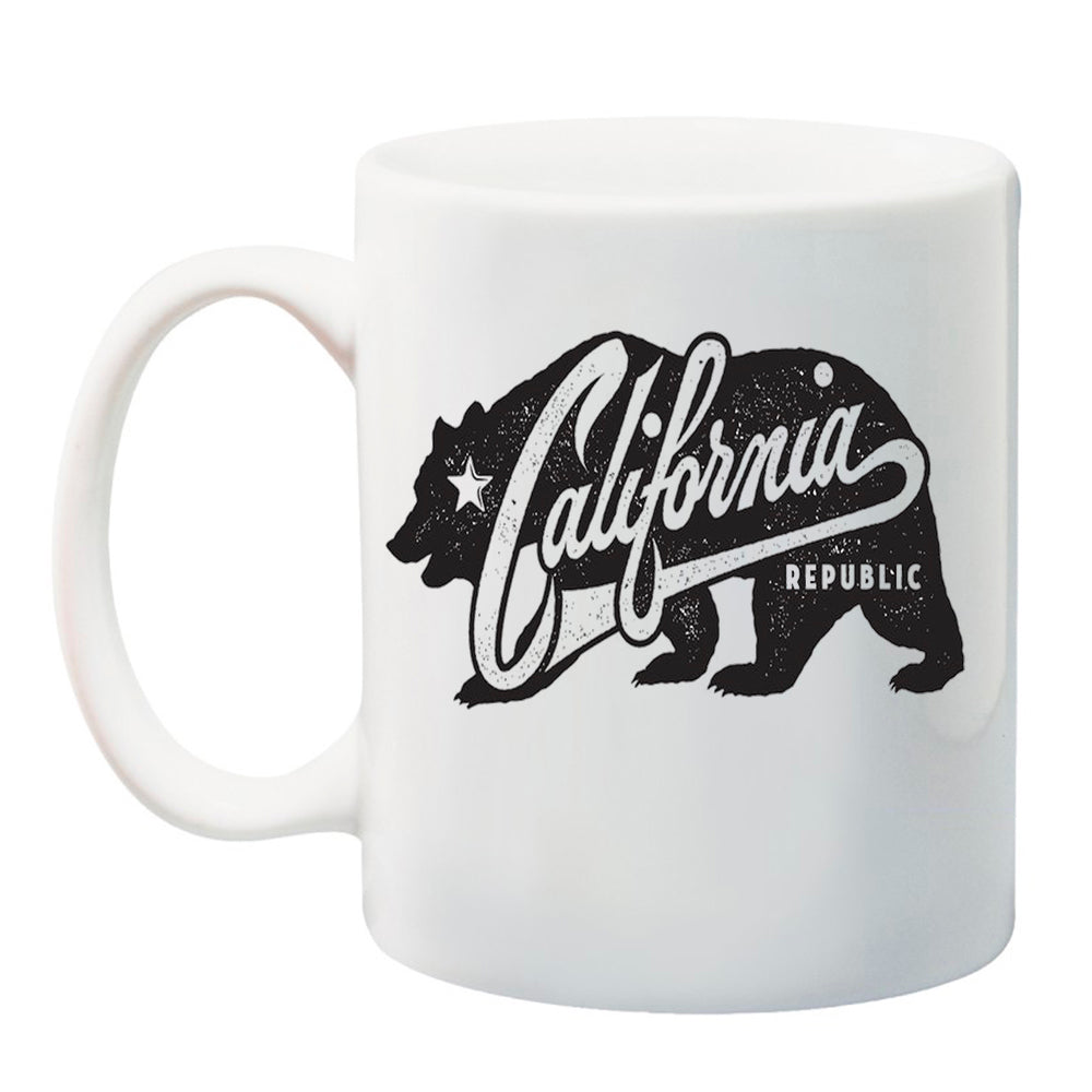 Ink Trendz® California Vintage Bear  11 oz. Ceramic Coffee Mug california republic coffee mug, cali mug