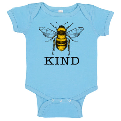 Bee Kind Bumble Bee Infant Baby Bodysuit Romper