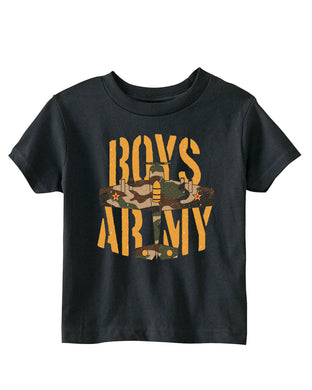 Army Boys WWII Mustang War Airplane Toddler T-Shirt