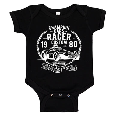 Champion Racer F1 Race Car Baby Bodysuit